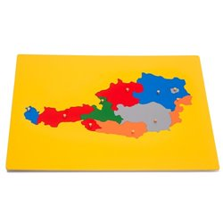 Jigsaw Puzzle Map - Austria