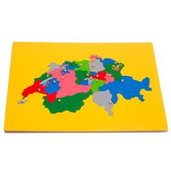 Jigsaw Puzzle Map - Switzerland