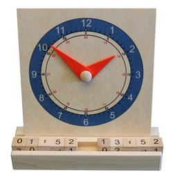 Clock with movable arms, 12/24h time and digital numbers