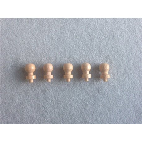 5 Replacement knobs for knobbed cylinders