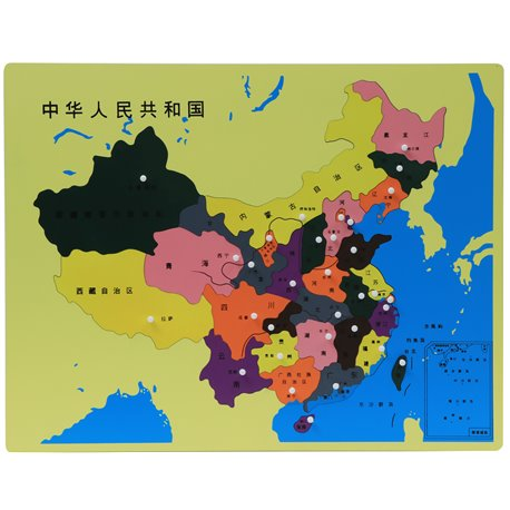Jigsaw Puzzle Map - China (Chinese text)