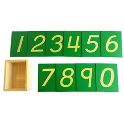 Sandpaper numerals, (UK, US font), (boxed)