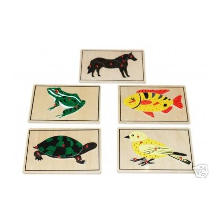 Animal Puzzle Cabinet Set of 5 Puzzles
