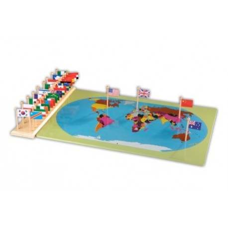 World map with flags wooden map and flag stand 36 flags world map with flags gumiabroncs Image collections