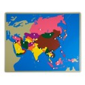 Jigsaw Puzzle Map - Asia