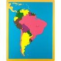 Jigsaw Puzzle Map - South America
