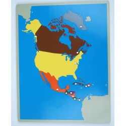 Jigsaw Puzzle Map - North America