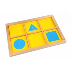 Geometric forms demonstration tray