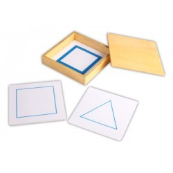 Geometric form cards for the demo tray