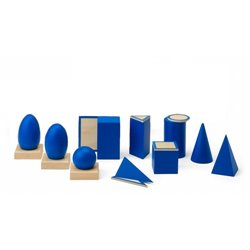 Geometric solids with stands
