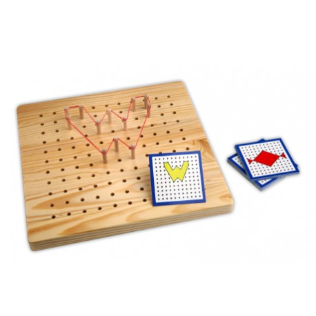 Peg Board 11 x 11 + exercise cards