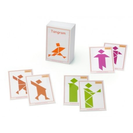 Tangram exercise cards, human shapes