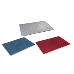 SET of 3 Carpets - red, blue, grey