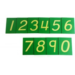 Sandpaper numerals, English, (unboxed)