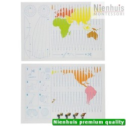 Globe Projection Map: Set Of 10