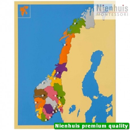 puzzle map norway