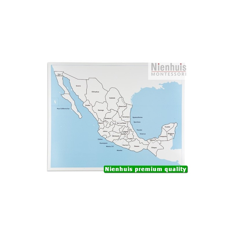Mexico Control Map Labeled