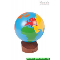 Globe Of The Continents: Colored, 16cm