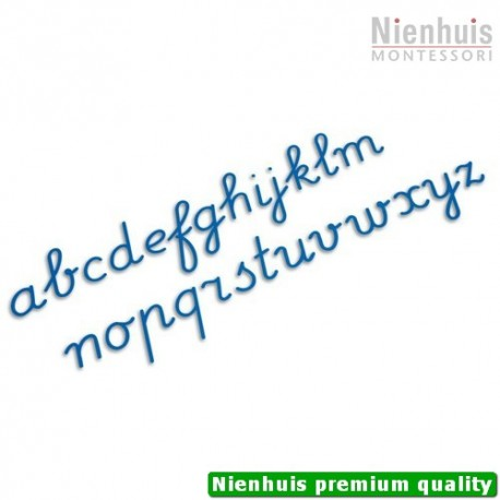 Medium Movable Alphabet: International Cursive - Blue