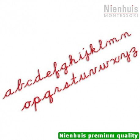 Medium Movable Alphabet: US Cursive - Red