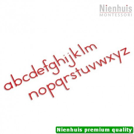 Medium Movable Alphabet: International Print - Red