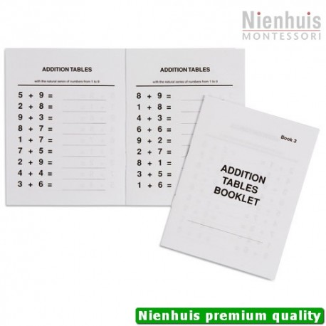Addition Tables Booklet: 3