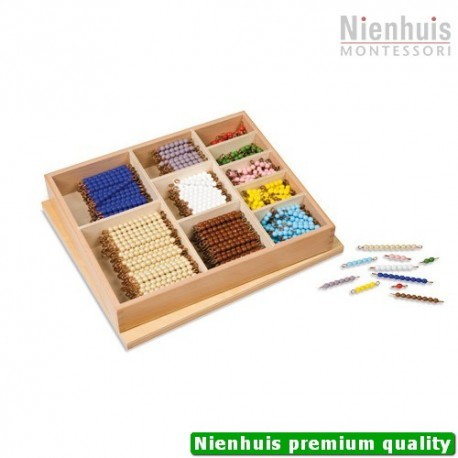 Multiplication Bead Bar Layout Box: Individual Beads Glass