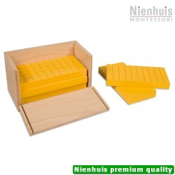Five Yellow Prisms In Wooden Box