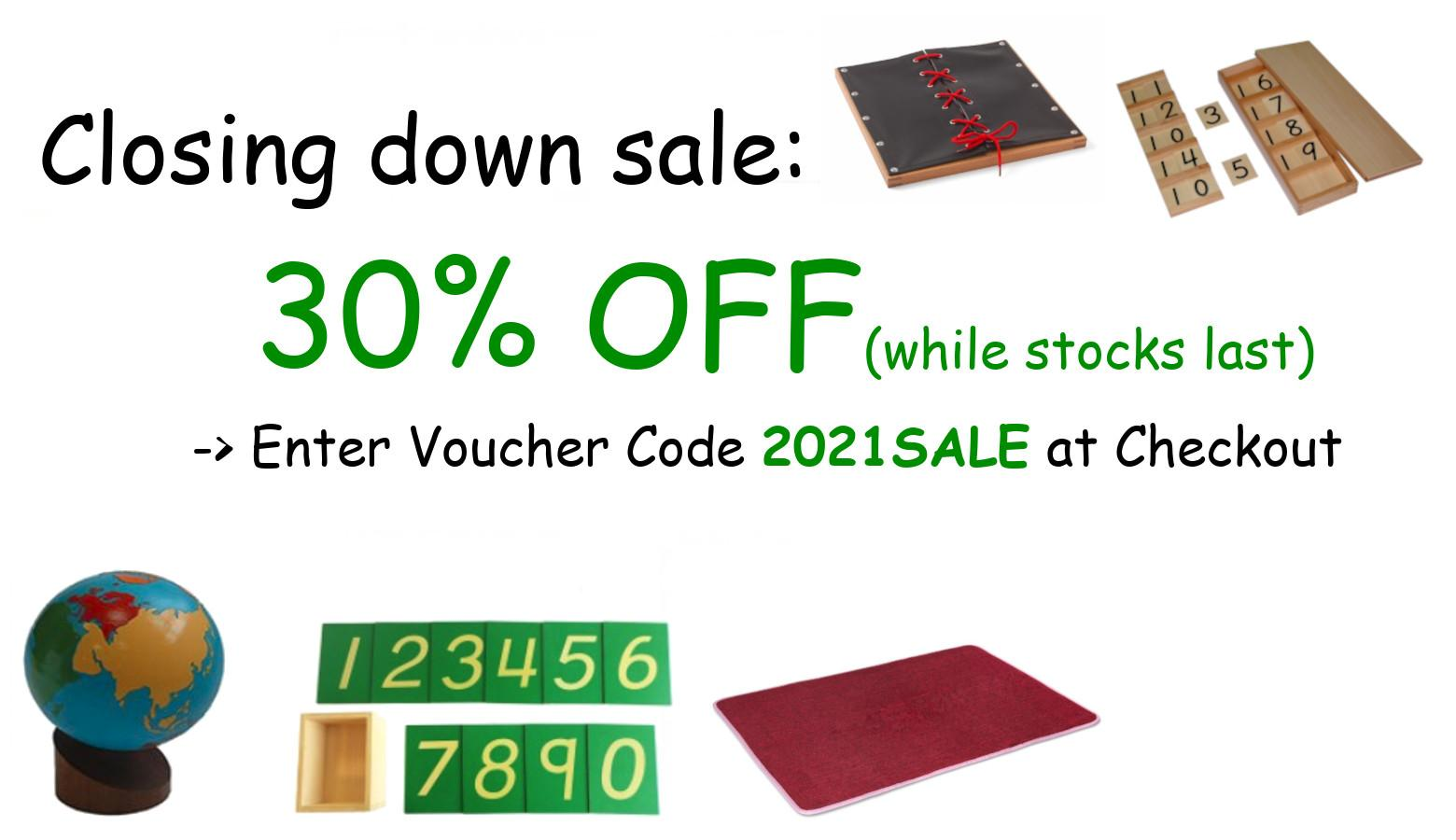 Closing Down Sale - 30% off stock